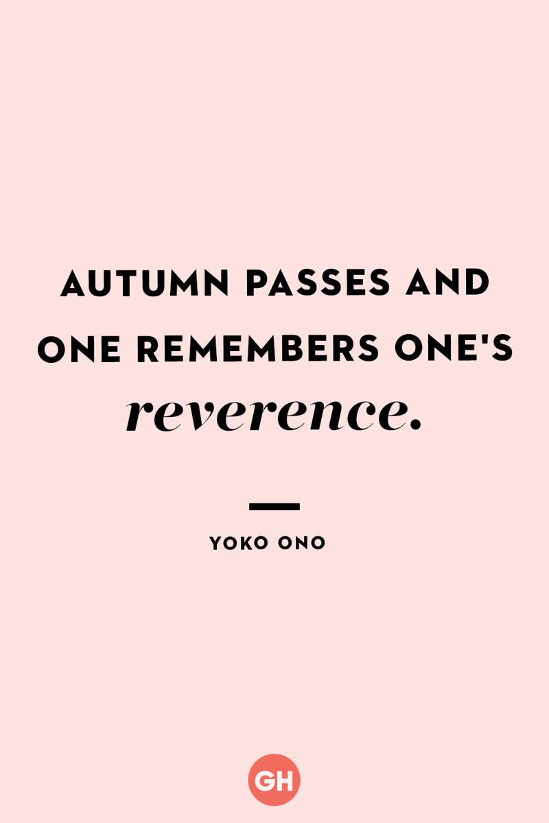 <p>Autumn passes and one remembers one's reverence.</p>
