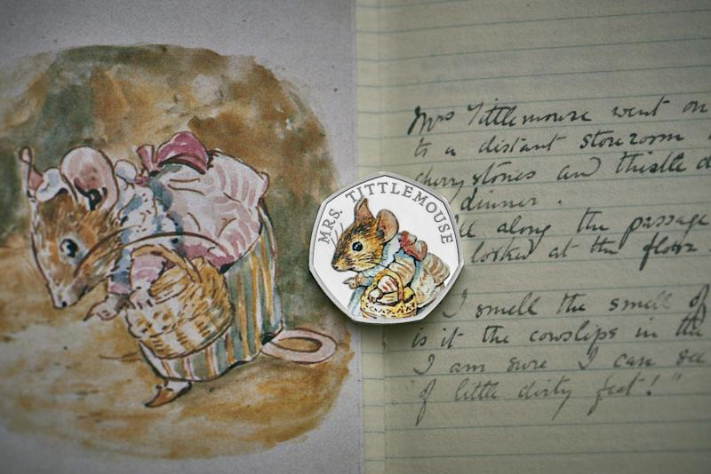 A new coin featuring Mrs Tittlemouse (Royal Mint)