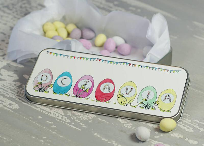 Personalised Letterbox Easter Egg Tin