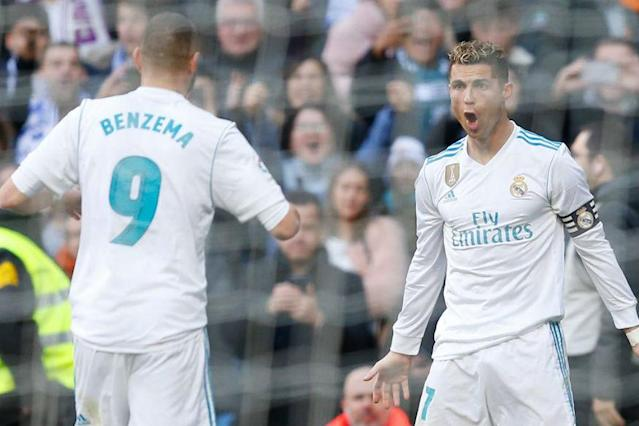 Real coach Zinedine Zidane hailed Cristiano Ronaldo's selflessness after the forward gave up the chance of a hat-trick by allowing Karim Benzema to take a late penalty in Saturday's 4-0 thrashing of Alaves.
