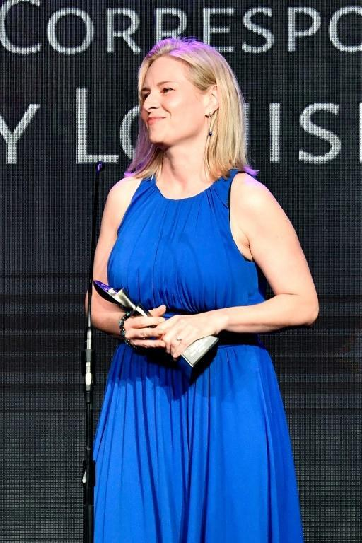 NPR's Mary Louise Kelly, pictured winning an award in Beverly Hills in 2018, is a distinguished former national security correspondent (AFP Photo/Frazer Harrison)
