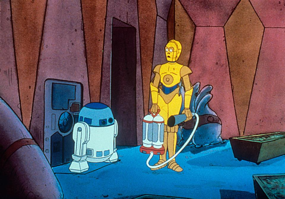 The short-lived animated shows 'Droids' and 'Ewoks' brought the 'Star Wars' galaxy to television in the 1980s (Photo: LucasFilm / Courtesy Everett Collection)