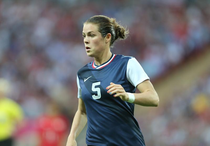 Kelley O'Hara's efforts at the 2012 Olympics sealed her spot at left back on the all-decade team. (Photo by AMA/Corbis via Getty Images)