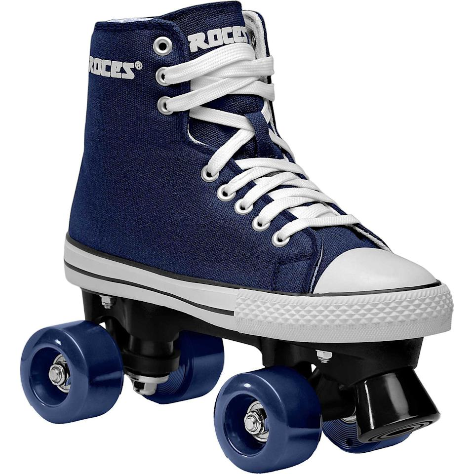 "<h3><a href=""https://www.dickssportinggoods.com/f/roller-blades?pageNumber=0&filterFacets=3111%3ARoller%20Skates"" rel=""nofollow noopener"" target=""_blank"" data-ylk=""slk:Dick's Sporting Goods"" class=""link rapid-noclick-resp"">Dick's Sporting Goods</a></h3> <br>Like any sports retailer worth its salt, Dick's carried a healthy selection of roller skates in its online store. <br><br>While inventory is limited, we'd still encourage you to browse the wide range of brands and styles (you can sort the options by size to get a quick look at what your options are).<br><br><strong>Roces</strong> Chuck Classic Roller Skates, $, available at <a href=""https://go.skimresources.com/?id=30283X879131&url=https%3A%2F%2Fwww.dickssportinggoods.com%2Fp%2Froces-chuck-classic-roller-skates-18rocuchckclsscxxils%2F18rocuchckclsscxxils"" rel=""nofollow noopener"" target=""_blank"" data-ylk=""slk:Dick's Sporting Goods"" class=""link rapid-noclick-resp"">Dick's Sporting Goods</a><br><br><br>"