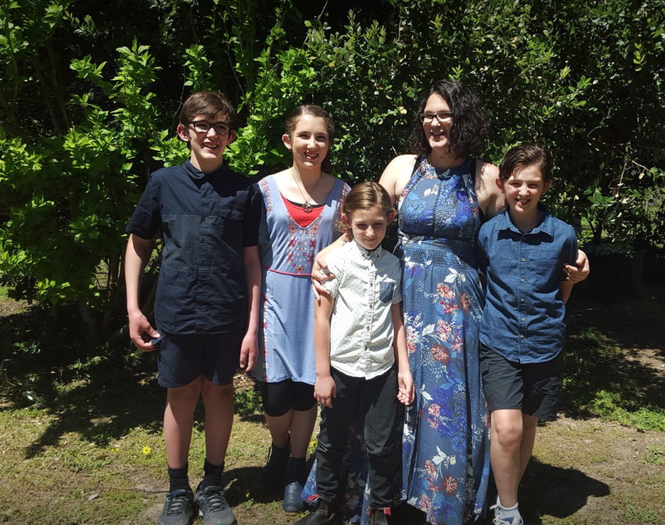 <em>Victims – Katrina Miles and her four children are thought to be among the victims of the mass shooting in Australia (Picture: Facebook)</em>