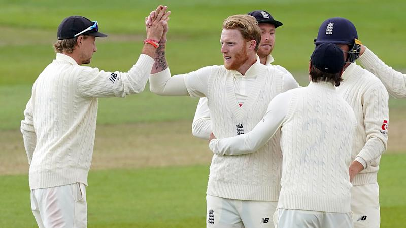 Seen here, Ben Stokes celebrates a wicket for England in the second Test against the West Indies.