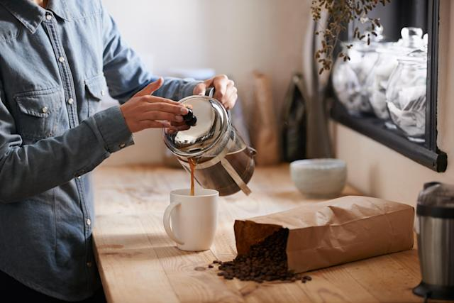 "<p>Coffee may seem like it wakes you up, and it does. For a while. But when you drink too much, your body becomes dependent on the caffeinated drink. <a href=""https://www.chicagoreader.com/chicago/how-does-caffeine-affect-nervous-system-health-research/Content?oid=875717"" rel=""nofollow noopener"" target=""_blank"" data-ylk=""slk:Research has shown"" class=""link rapid-noclick-resp"">Research has shown</a> that when people decrease their coffee intake, they actually feel less tired when morning comes around. Try to stick to just one cup in the morning and cut all coffee by midday. (Photo: Getty Images) </p>"