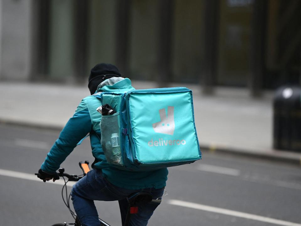 <p>The food delivery company has benefited from Covid restrictions</p> (AFP via Getty Images)