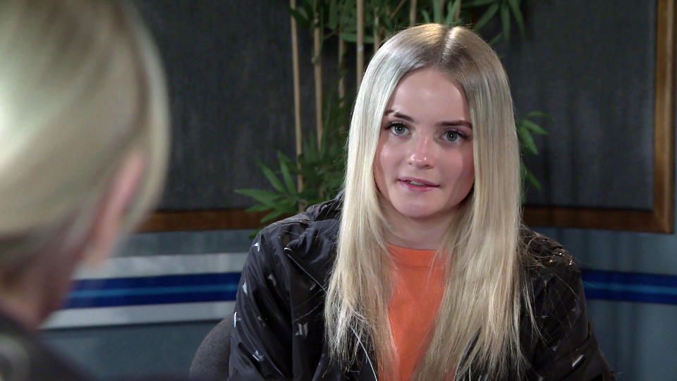 FROM ITV  STRICT EMBARGO - No Use Before Tuesday 4th May 2021  Coronation Street - Ep 10324  Wednesday 12th May 2021 - 2nd Ep  Imran Habeeb [CHARLIE DE MELO] sits in on the police interview with Kelly Neelan [MILLIE GIBSON].   Picture contact David.crook@itv.com   This photograph is (C) ITV Plc and can only be reproduced for editorial purposes directly in connection with the programme or event mentioned above, or ITV plc. Once made available by ITV plc Picture Desk, this photograph can be reproduced once only up until the transmission [TX] date and no reproduction fee will be charged. Any subsequent usage may incur a fee. This photograph must not be manipulated [excluding basic cropping] in a manner which alters the visual appearance of the person photographed deemed detrimental or inappropriate by ITV plc Picture Desk. This photograph must not be syndicated to any other company, publication or website, or permanently archived, without the express written permission of ITV Picture Desk. Full Terms and conditions are available on  www.itv.com/presscentre/itvpictures/terms