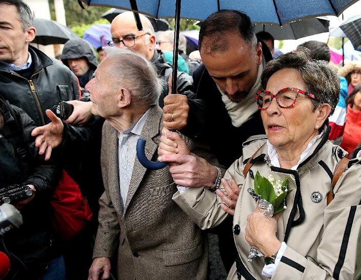 Vincent Lambert's parents, who are devout Catholics, have gone to Europe's top court to maintain his nutrition (AFP Photo/FRANCOIS NASCIMBENI)