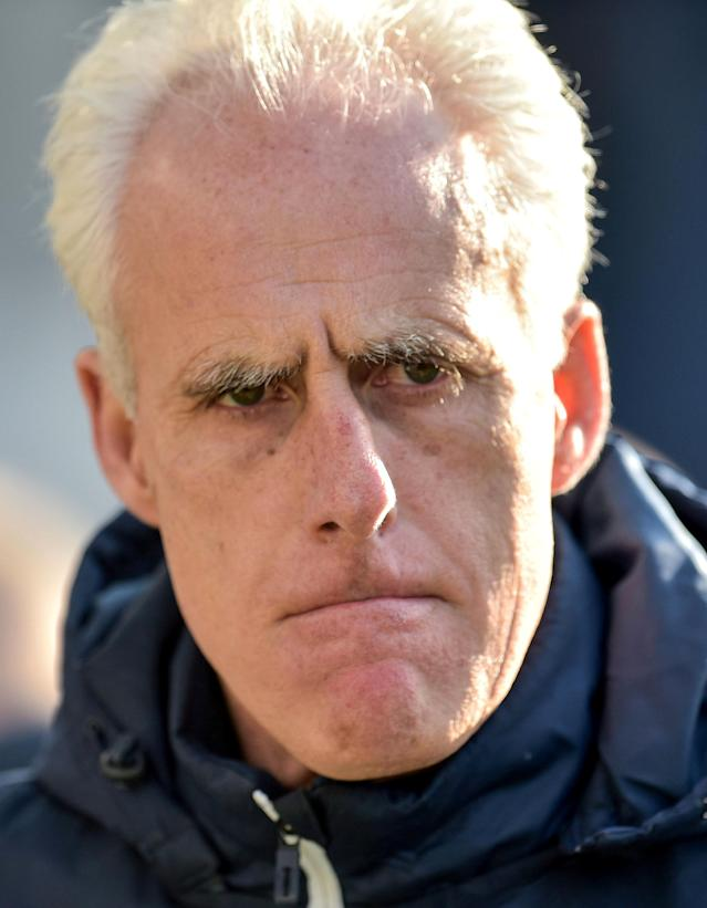 """Soccer Football - Championship - Preston North End vs Ipswich Town - Deepdale, Preston, Britain - February 24, 2018 Ipswich Town manager Mick McCarthy Action Images/Paul Burrows EDITORIAL USE ONLY. No use with unauthorized audio, video, data, fixture lists, club/league logos or """"live"""" services. Online in-match use limited to 75 images, no video emulation. No use in betting, games or single club/league/player publications. Please contact your account representative for further details."""