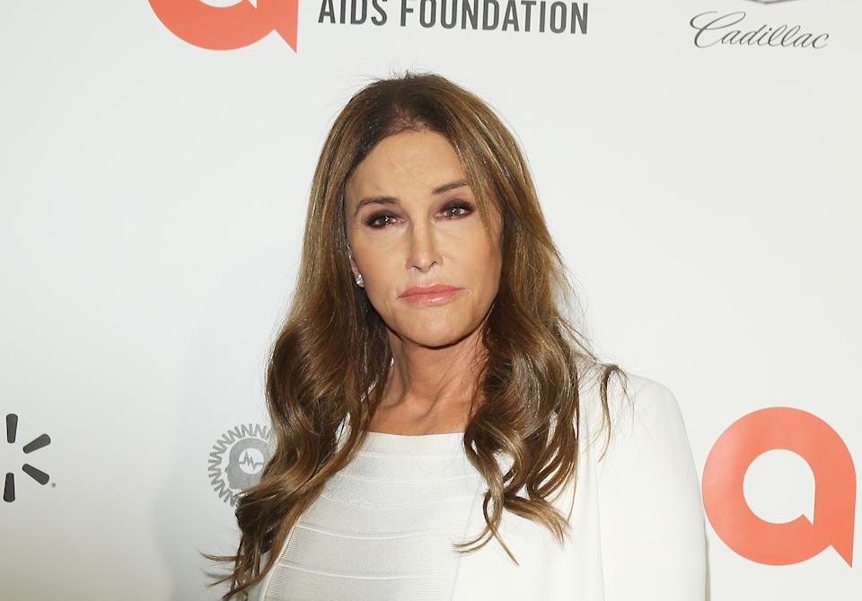 Caitlyn Jenner at the 28th Annual Elton John AIDS Foundation Academy Awards Viewing Party.