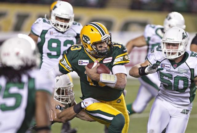 CFL ratings are off, but Sunday's finale in Saskatchewan drew a big audience. THE CANADIAN PRESS/Jason Franson