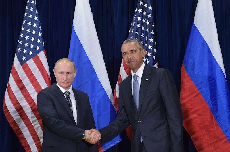 US President Barack Obama and Russia's President Vladimir Putin met on the sidelines of the UN General Assembly on September 28, 2015 in New York (AFP Photo/Mandel Ngan)