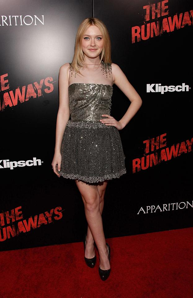 "<a href=""http://movies.yahoo.com/movie/contributor/1804501481"">Dakota Fanning</a> at the Los Angeles premiere of <a href=""http://movies.yahoo.com/movie/1810129048/info"">The Runaways</a> - 03/11/2010"