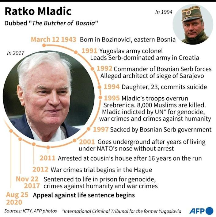 """Profile of former Serbian general Ratko Mladic, dubbed """"The Butcher of Bosnia"""""""