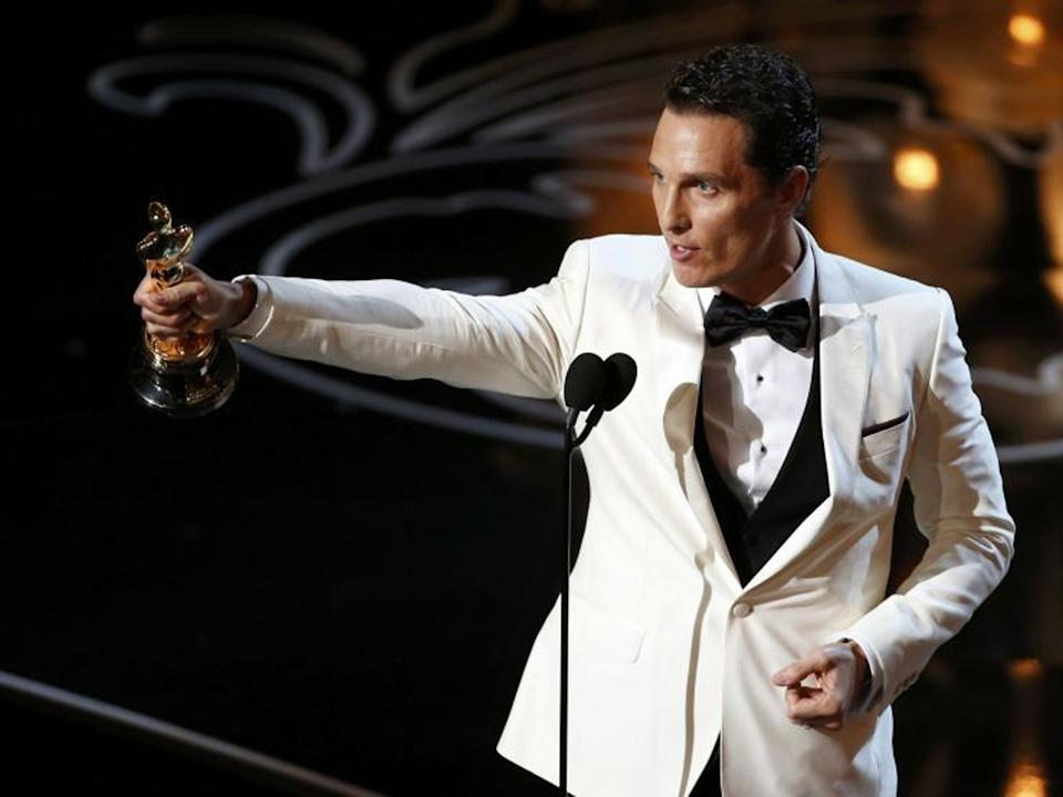 Matthew McConaughey won the Oscar for best actor in 2014 for his role in 'Dallas Buyers Club'Reuters