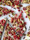 """<p>This Christmas bark is almost too beautiful to eat. The nutty and sweet tastes from the toppings pair deliciously with the swirled dark and white chocolate.</p><p><strong>Get the recipe at <a href=""""https://www.howsweeteats.com/2017/12/chocolate-bark-pomegranate-pistachio/"""" rel=""""nofollow noopener"""" target=""""_blank"""" data-ylk=""""slk:How Sweet Eats"""" class=""""link rapid-noclick-resp"""">How Sweet Eats</a>.</strong> </p>"""