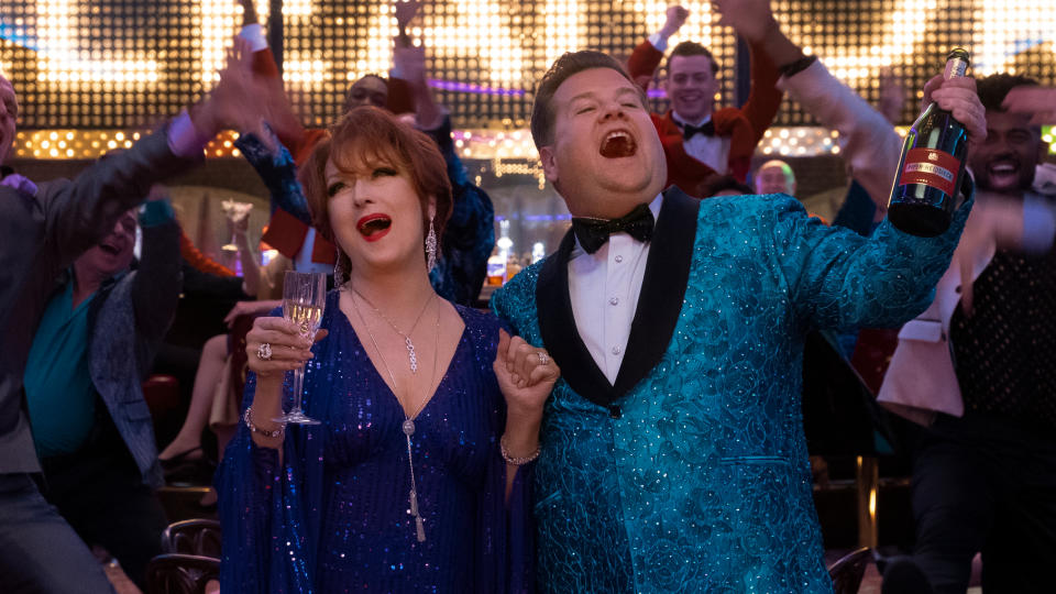 Meryl Streep and James Corden in Netflix musical 'The Prom'. (Credit: Melinda Sue Gordon/Netflix)