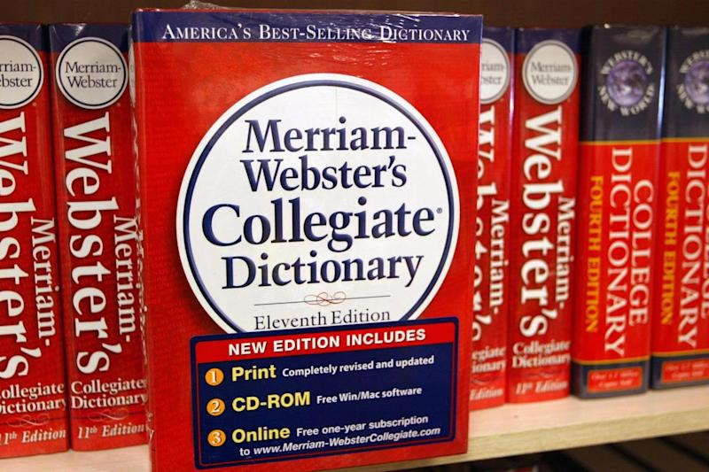 The dictionary has lists of words added by year. (Getty Images)