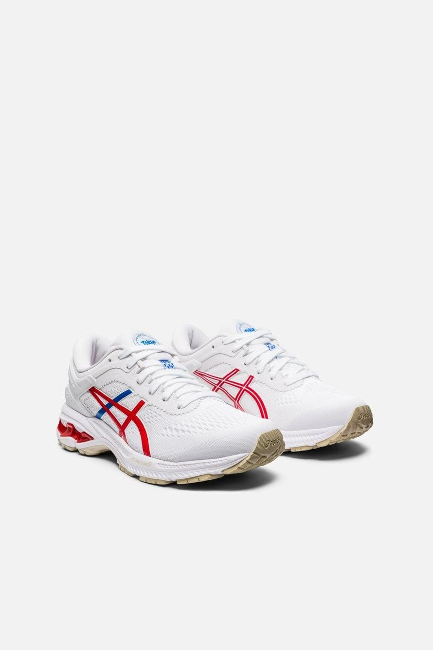"<p>These <a href=""https://www.popsugar.com/buy/Asics-Gel-Kayano-26-Retro-Tokyo-567200?p_name=Asics%20Gel-Kayano%2026%20Retro%20Tokyo&retailer=bandier.com&pid=567200&price=160&evar1=fit%3Aus&evar9=47407221&evar98=https%3A%2F%2Fwww.popsugar.com%2Fphoto-gallery%2F47407221%2Fimage%2F47407228%2FAsics-Gel-Kayano-26-Retro-Tokyo&list1=shopping%2Cshoes%2Csneakers%2Cbandier&prop13=api&pdata=1"" class=""link rapid-noclick-resp"" rel=""nofollow noopener"" target=""_blank"" data-ylk=""slk:Asics Gel-Kayano 26 Retro Tokyo"">Asics Gel-Kayano 26 Retro Tokyo</a> ($160) sneakers are great for long runs but also look good with your new sweatsuit.</p>"