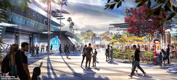 PHOTO: This newly-released artist concept of the Avengers Campus at Disney California Adventure Park. (Disneyland Resort)