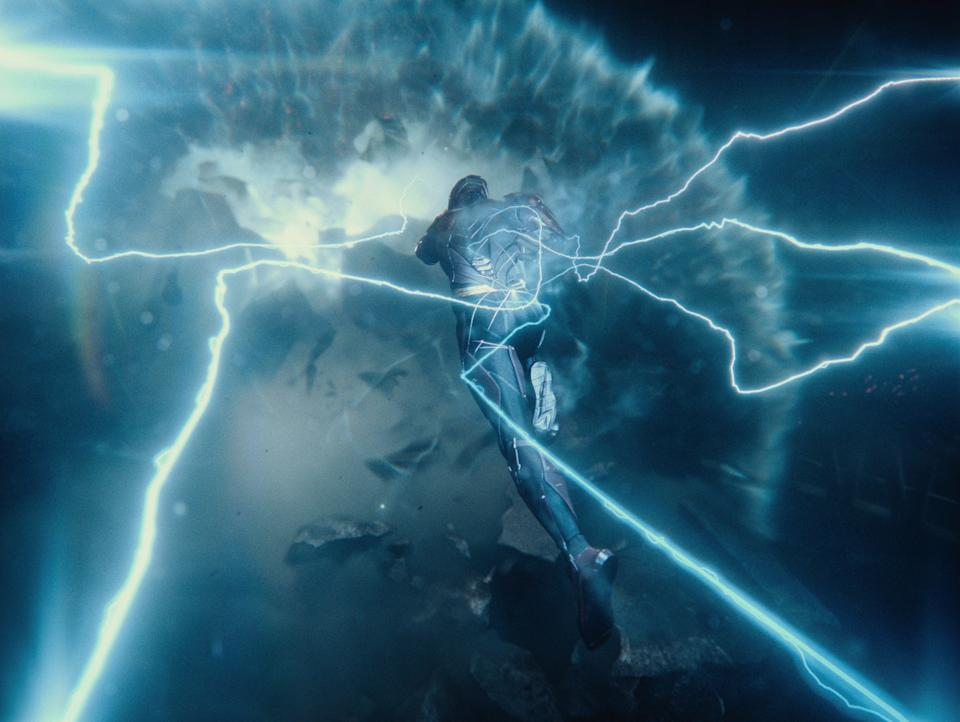 The Flash races against time in the climax of 'Zack Snyder's Justice League' (Photo: Courtesy of HBO Max/Warner Media)