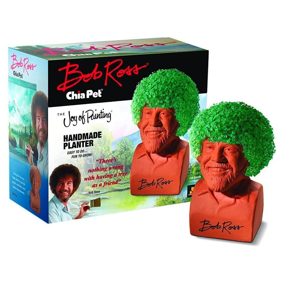 """<p><strong>Chia Pet</strong></p><p>amazon.com</p><p><strong>$19.99</strong></p><p><a href=""""https://www.amazon.com/dp/B073C95WTN?tag=syn-yahoo-20&ascsubtag=%5Bartid%7C10055.g.20954685%5Bsrc%7Cyahoo-us"""" rel=""""nofollow noopener"""" target=""""_blank"""" data-ylk=""""slk:Shop Now"""" class=""""link rapid-noclick-resp"""">Shop Now</a></p><p>Way back when, Bob Ross taught him that trees make the very best friends, and this Chia Pet will show him just that. In less than two weeks, Bob's famous afro will take shape, and then the planter can be washed and used again after the greens die. </p>"""