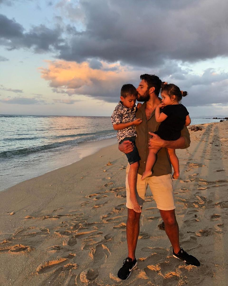 Now that Megan has decided to close the business she is excited to spend more time with fiancé Shaun Hampson and their two children River, six, and Rosie, two. Photo: Instagram/MeganKGale