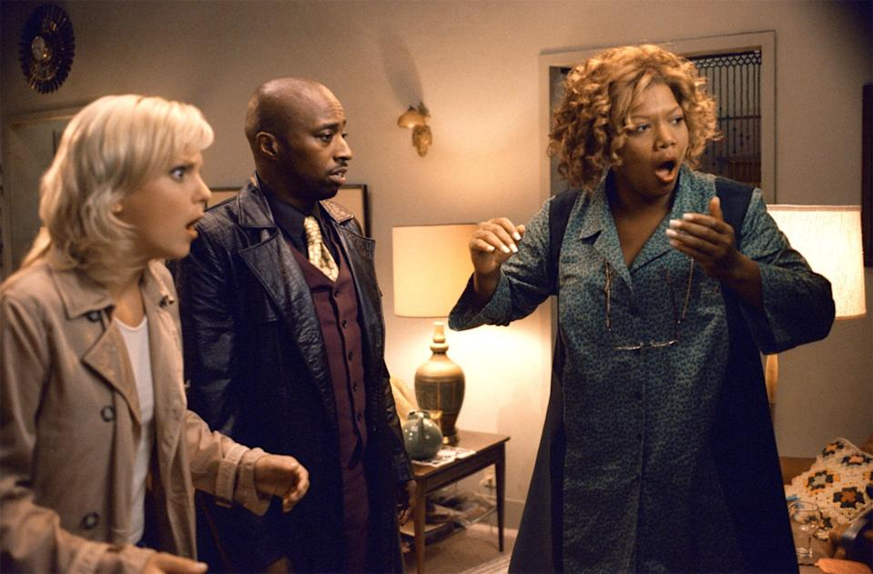 """<p>That's right: <em>Scary Movie</em> has not one but <em>two</em> sequels that far surpass its original. (We don't talk about <em>Scary Movie 4</em> or <em>5</em>.) This time around, Cindy is trapped in a hilarious, horrifying hybrid of <em>The Ring</em> and <em>Signs.</em> Supporting performances from Queen Latifah and the always-hilarious Regina Hall elevate <em>Scary Movie 3</em> to a comedy classic. That scene where Brenda pranks Cindy with all those fake-out scares? Where was her Oscar?! — <em>CR</em></p> <p><a href=""""https://www.amazon.com/Scary-Movie-3-Anna-Faris/dp/B00FJUZV7S/ref=sr_1_1?dchild=1&keywords=Scary+Movie+3&qid=1592941997&s=instant-video&sr=1-1"""" rel=""""nofollow noopener"""" target=""""_blank"""" data-ylk=""""slk:Stream on Amazon Prime Video"""" class=""""link rapid-noclick-resp""""><em>Stream on Amazon Prime Video</em></a></p>"""