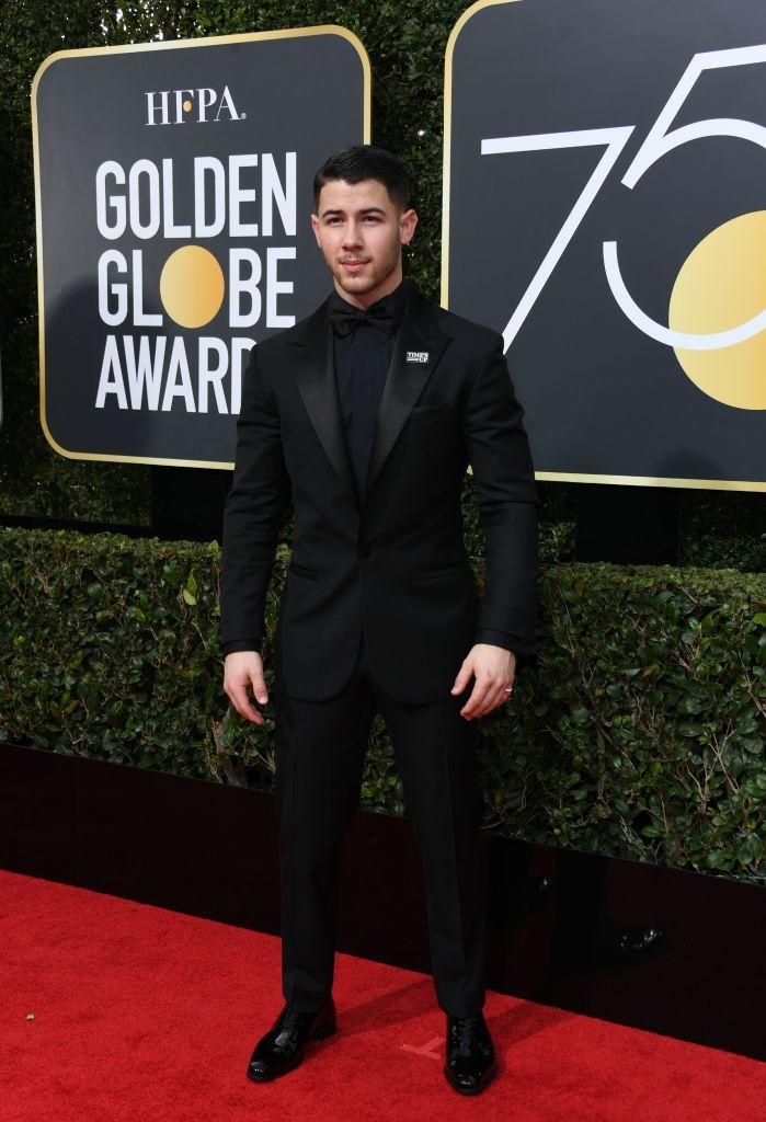 "<p>Nick Jonas, who received his first Golden Globe nomination for co-writing the song ""Home"" from <em>Ferdinand, </em>attends the 75th Annual Golden Globe Awards at the Beverly Hilton Hotel in Beverly Hills, Calif., on Jan. 7, 2018. (Photo: Steve Granitz/WireImage) </p>"