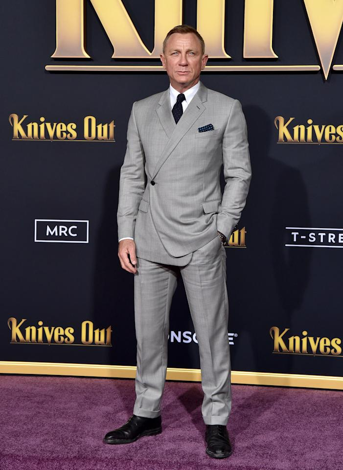 <p>WHERE: The premiere of Knives Out in Los Angeles</p> <p>WHEN: November 14, 2019</p> <p>WHY: Proof that even a man of atypically classic taste can change things up once in awhile.</p>