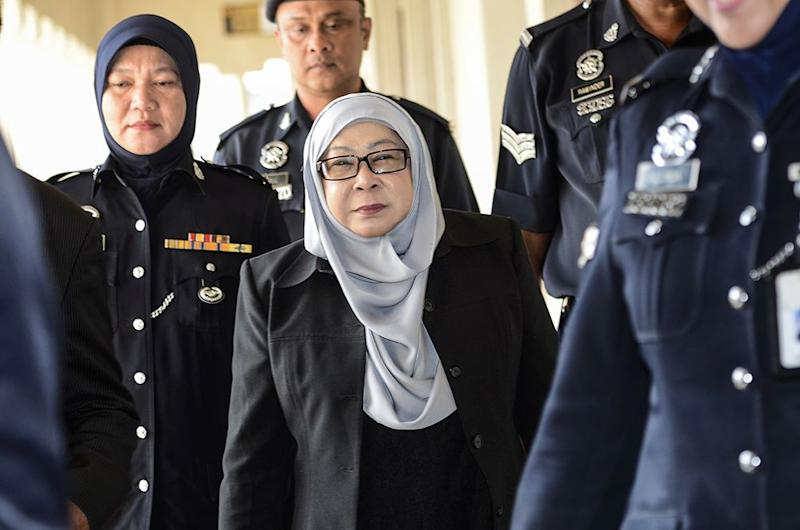 Former Malaysia External Intelligence Organisation director-general Hasanah Abdul Hamid failed to appear in court for case management proceedings this morning. — Picture by Miera Zulyana
