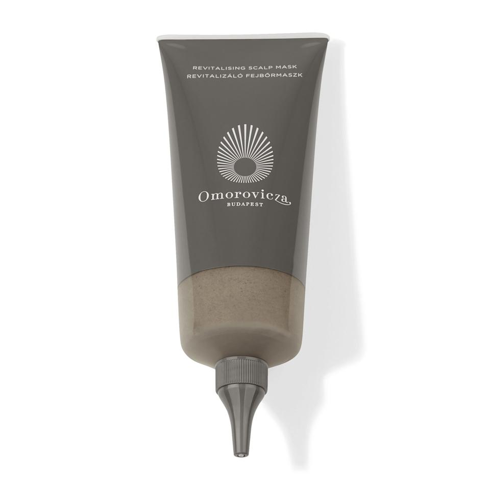 """<p>Suitable for all skin types — yes, <em>even</em> the most sensitive — Omorovicza's Revitalizing Scalp Mask calms irritation instantly, thanks to cooling menthol and camphor, which not only feel soothing but work to actively minimize redness and itchiness. Use prior to shampooing for a clean, balanced scalp and an epically good hair day.</p> <p><strong>$75</strong> (<a href=""""https://shop-links.co/1692600634306697847"""" rel=""""nofollow"""">Shop Now</a>)</p>"""