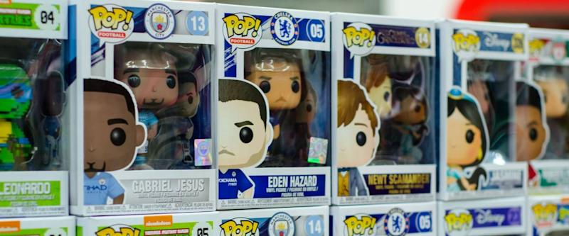 Kyiv, Ukraine - January 27, 2019: Funko POP! toys for sale in the store.