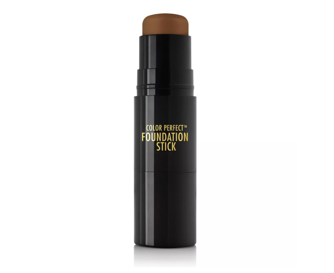"""<p><strong>Black Radiance</strong></p><p>target.com</p><p><strong>$9.99</strong></p><p><a href=""""https://www.target.com/p/black-radiance-color-perfect-foundation-stick-0-25oz/-/A-54023364"""" target=""""_blank"""">SHOP IT </a></p><p>Black Radiance comes in a wide range of sheer to full coverage and an array of foundation shades. Its products are specifically formulated to enhance deep skin tones. </p>"""