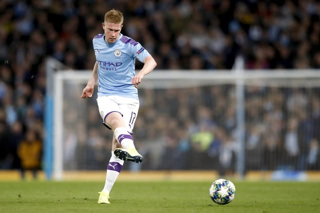 Manchester City got good results against Liverpool last season without Kevin De Bruyne (Martin Rickett/PA)