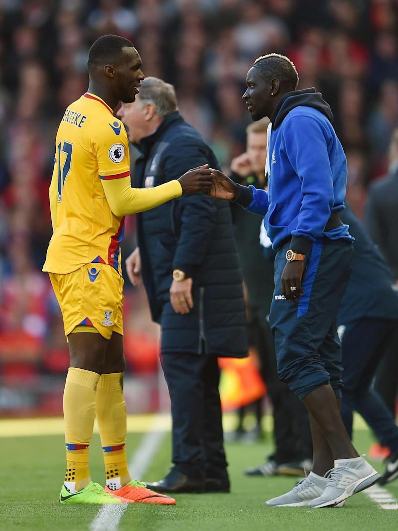 Benteke and Sakho exchanged an elaborate celebratory handshake (Getty)