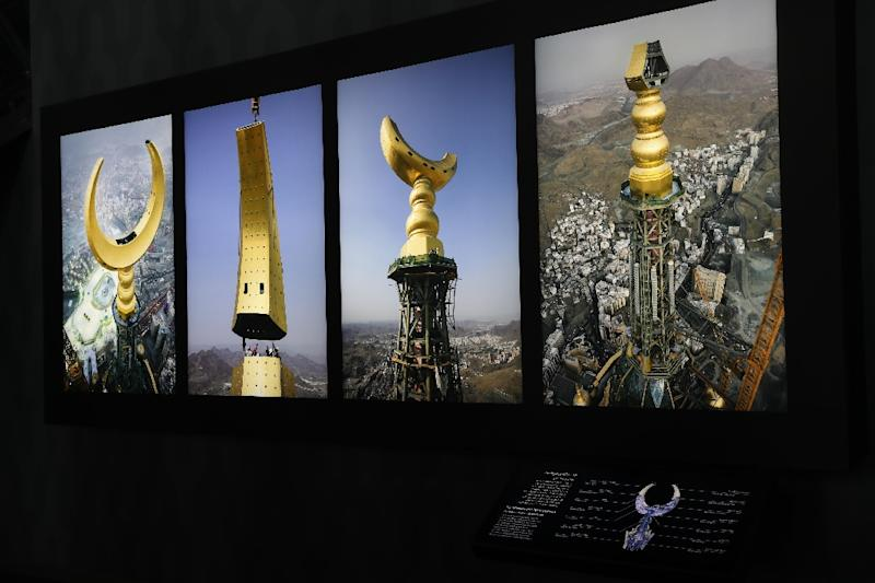 Overlooking the Kaaba, a black structure inside the Grand Mosque towards which Muslims around the world turn to pray, stands the four-storey Clock Tower Museum (AFP Photo/Bandar ALDANDANI)