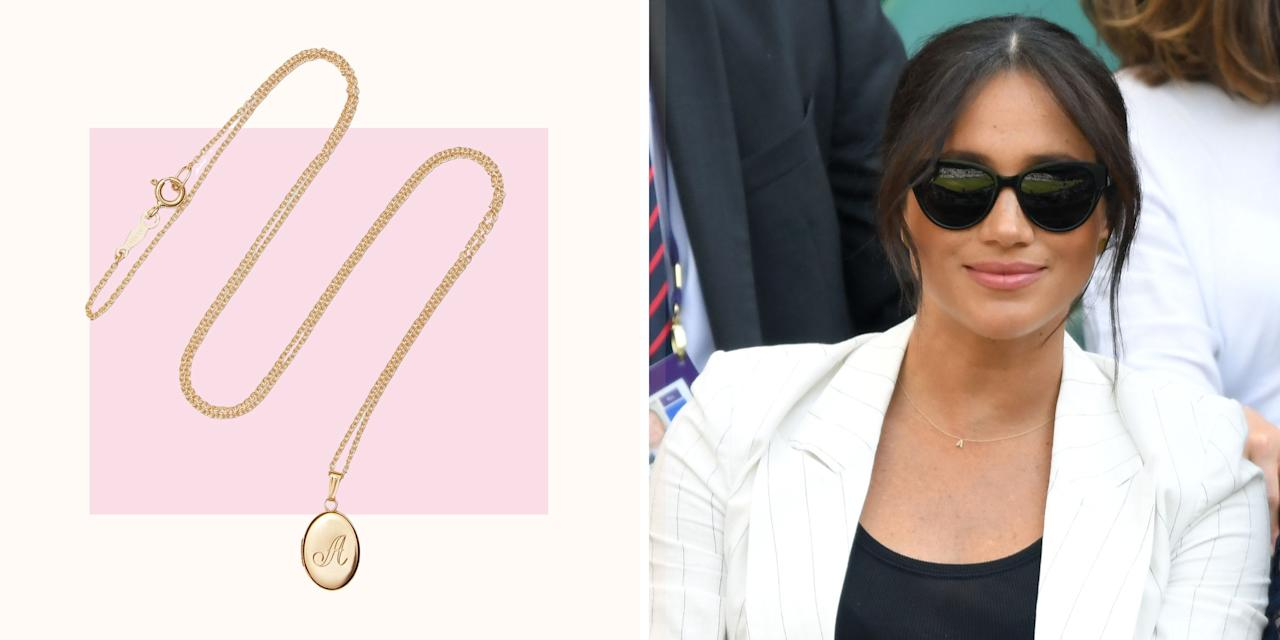 """<p>After Meghan, Duchess of Sussex (AKA Meghan Markle) wore a dainty gold 'A' charm necklace to this year's <a href=""""https://www.cosmopolitan.com/uk/fashion/celebrity/a28297504/meghan-markle-wimbledon-archie-necklace/"""" target=""""_blank"""">Wimbledon</a> shenanigans, Google Trends found a 50 percent increase in searches for the cute jewellery trend. Made by Sydney-based jewellery brand <a href=""""https://www.versefinejewellery.com/collections/love-letters"""" target=""""_blank"""">Verse Fine Jewellery</a>, Meghan's Love Letters piece caused a huge rush of orders. </p><p>If you're keen to buy a personalised keepsake necklace, look no further. We've found plenty of gorgeous letter charms and pendant necklace options to treat yourself to or, better still, get a loved one to buy for you (just like Harry probably did for Meghan). </p><p>Scroll through to see our Editor's pick of the best personalised necklaces to shop now...</p><p><em>We earn a commission for products purchased through some of the links in this article.</em></p>"""