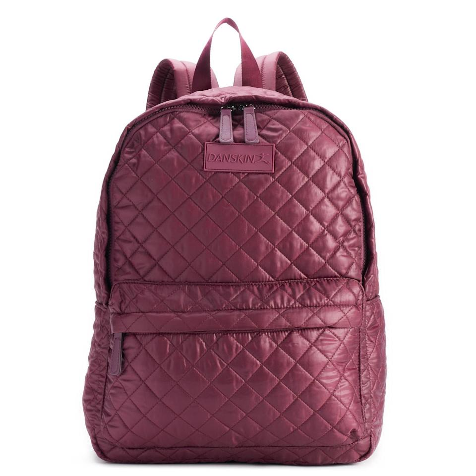 "<p><strong>Danskin</strong></p><p>kohls.com</p><p><strong>$40.80</strong></p><p><a href=""https://www.kohls.com/product/prd-3298719/danskin-quilted-backpack.jsp"" rel=""nofollow noopener"" target=""_blank"" data-ylk=""slk:SHOP NOW"" class=""link rapid-noclick-resp"">SHOP NOW</a></p><p>Every girl needs a <a href=""https://www.womansday.com/style/fashion/a55113/most-expensive-handbag-ever-sold/"" rel=""nofollow noopener"" target=""_blank"" data-ylk=""slk:stylish bag"" class=""link rapid-noclick-resp"">stylish bag</a> for carrying her daily necessities - and this one is well under $50. </p>"