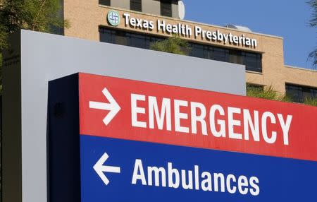 A general view of the Texas Health Presbyterian Hospital is seen in Dallas, Texas, October 4, 2014. REUTERS/Jim Young