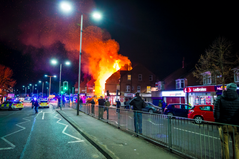 <em>Residents described feeling a 'tremor' as the building exploded (SWNS)</em>