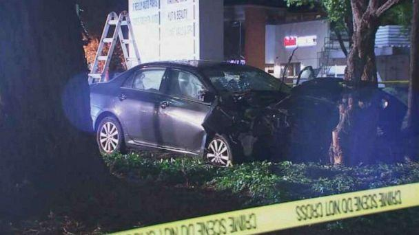 PHOTO: A car ran over at least eight pedestrians in what was possibly an intentional act in Sunnyvale, Calif., on Tuesday night, April 23, 2019. (KGO)