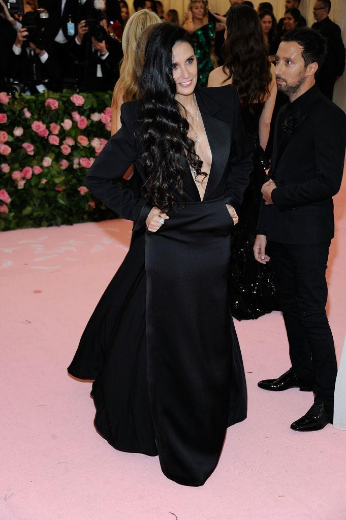 <p>The actor wore a Yves Saint Laurent gown.[Photo: Getty] </p>