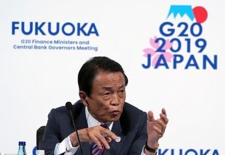 Currency provision won't be in Japan-U.S. trade deal: Aso