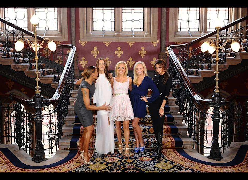 <strong>2012</strong>  The Spice Girls during a photocall at the St Pancras Renaissance Hotel in London to launch Viva Forever the musical