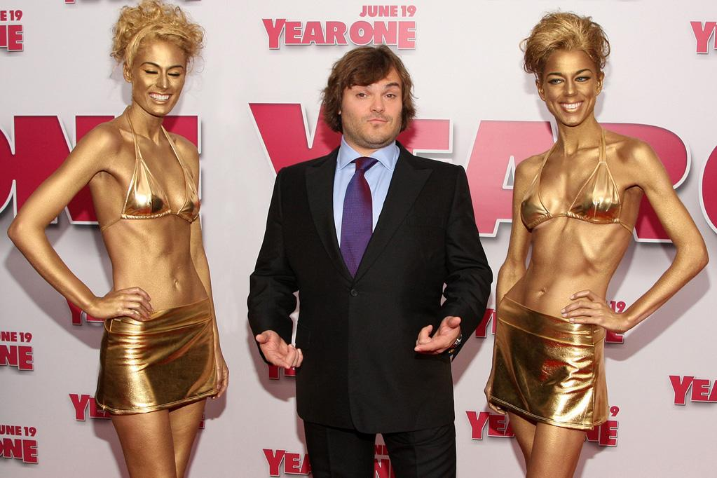 """<a href=""""http://movies.yahoo.com/movie/contributor/1800180457"""">Jack Black</a> at the New York premiere of <a href=""""http://movies.yahoo.com/movie/1809981033/info"""">Year One</a> - 06/15/2009"""