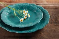"""<p>This stylish 12-Piece Transparent Glaze Dinnerware Set is composed of durable stoneware. Available at Walmart, <a href=""""http://yahooshopping.pgpartner.com/plr.php?id=18041"""" rel=""""nofollow noopener"""" target=""""_blank"""" data-ylk=""""slk:$44.92"""" class=""""link rapid-noclick-resp"""">$44.92</a>.<br></p>"""