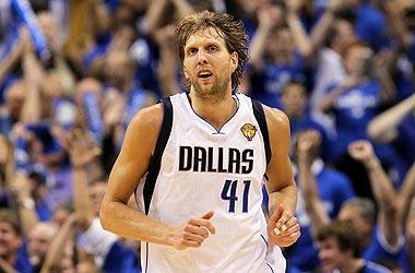 """Nowitzki is seeking the first championship of his NBA career. """"We're one win away from my dream, what I've worked on for half my life,"""" he said"""